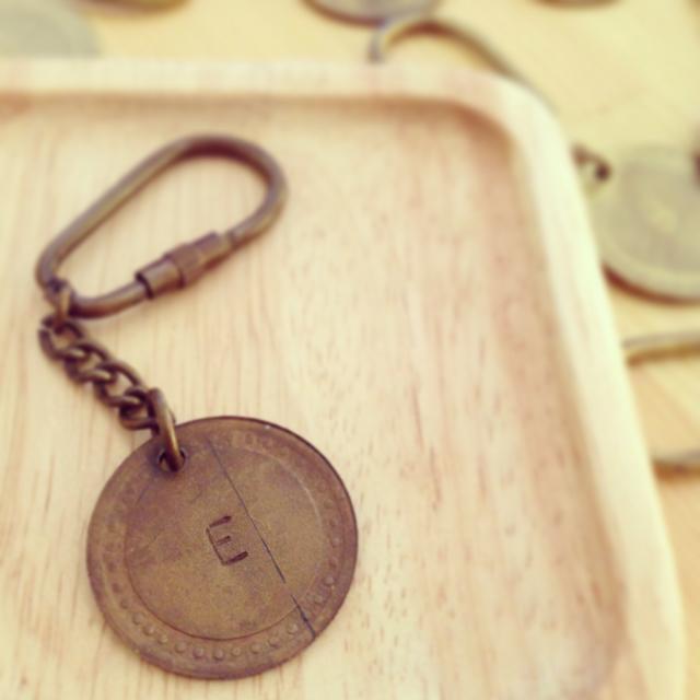 【solmu】真鍮アルファベットキーホルダー(E)