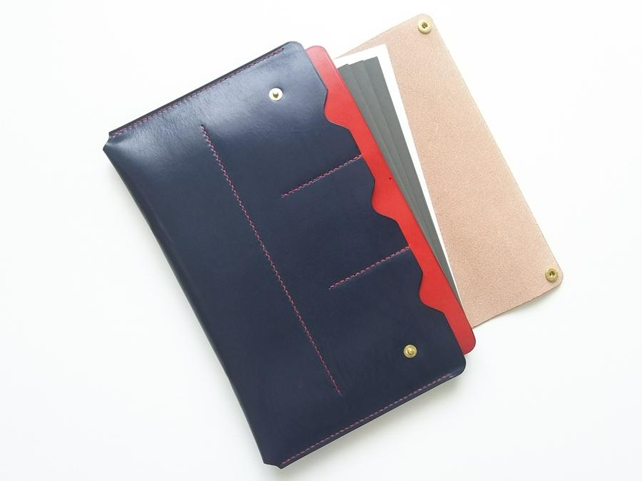 【色を選ぶセミオーダー】一緒に育つ母子手帳ケース A5版対応:Lサイズ やや大きめ