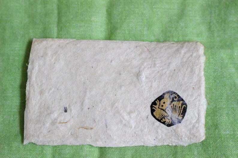家紋入り名刺サイズ和紙ギフトカード1(封筒付)