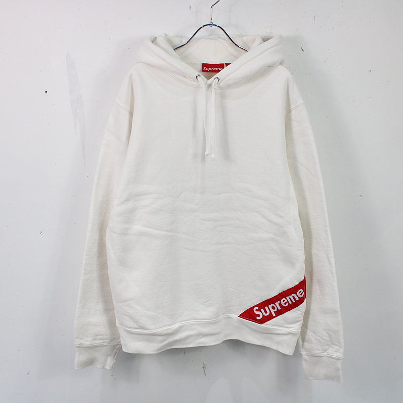 SUPREME / シュプリーム | Corner Label Hooded Sweatshirt コーナーラベルフーデッドパーカー | M | ホワイト | メンズ