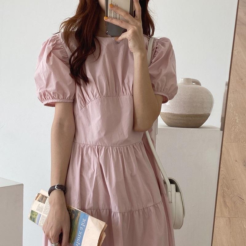 design Long A-line Dress(pink)