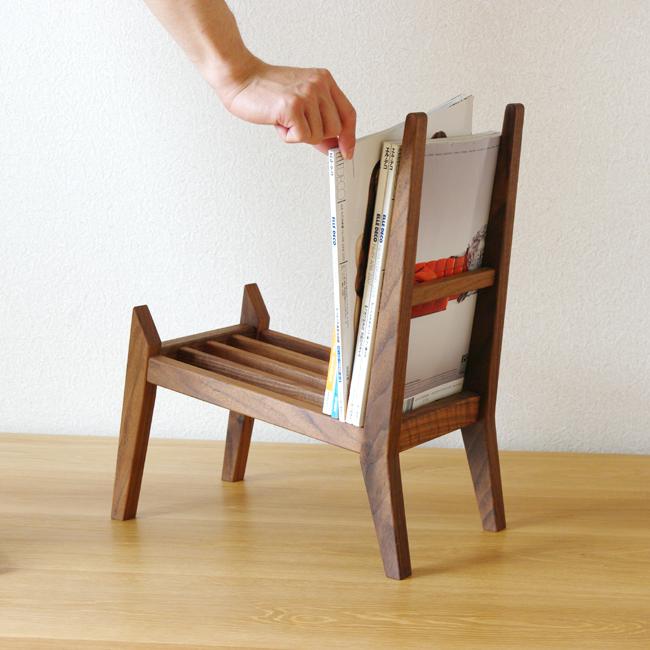 book rest chair/マガジンラック/木桟