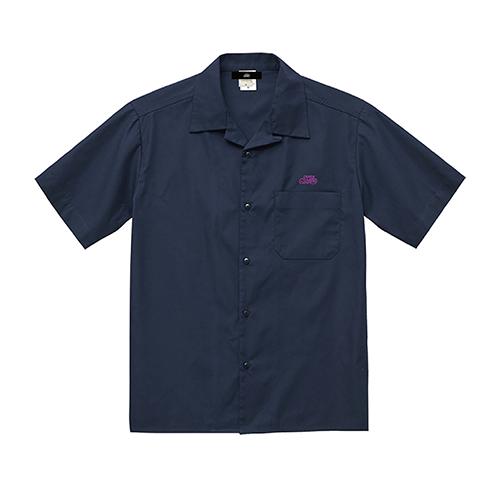 T/Cツイルオープンカラー半袖シャツ / ネイビー | SINE METU