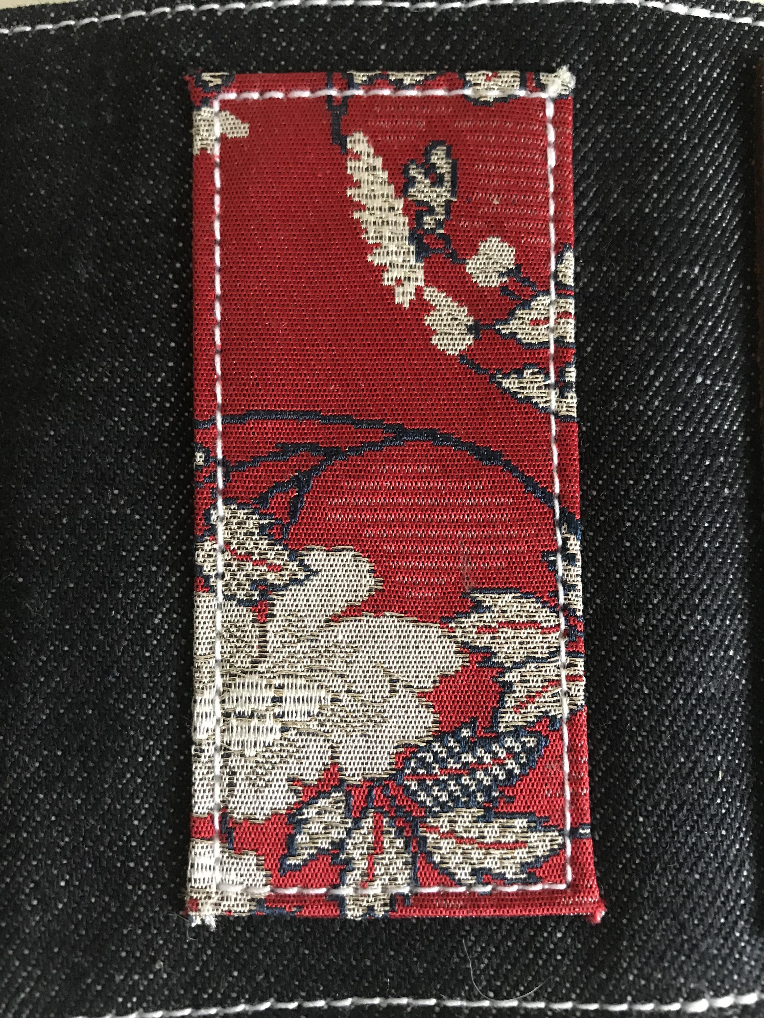 key case indigo denim (家紋)