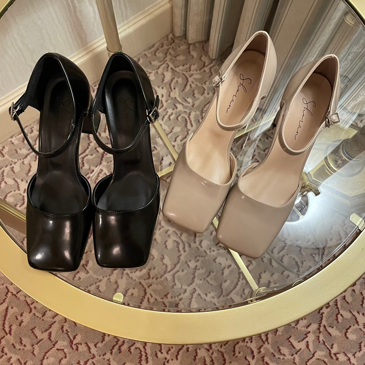 【Belle jour】square toe  pumps