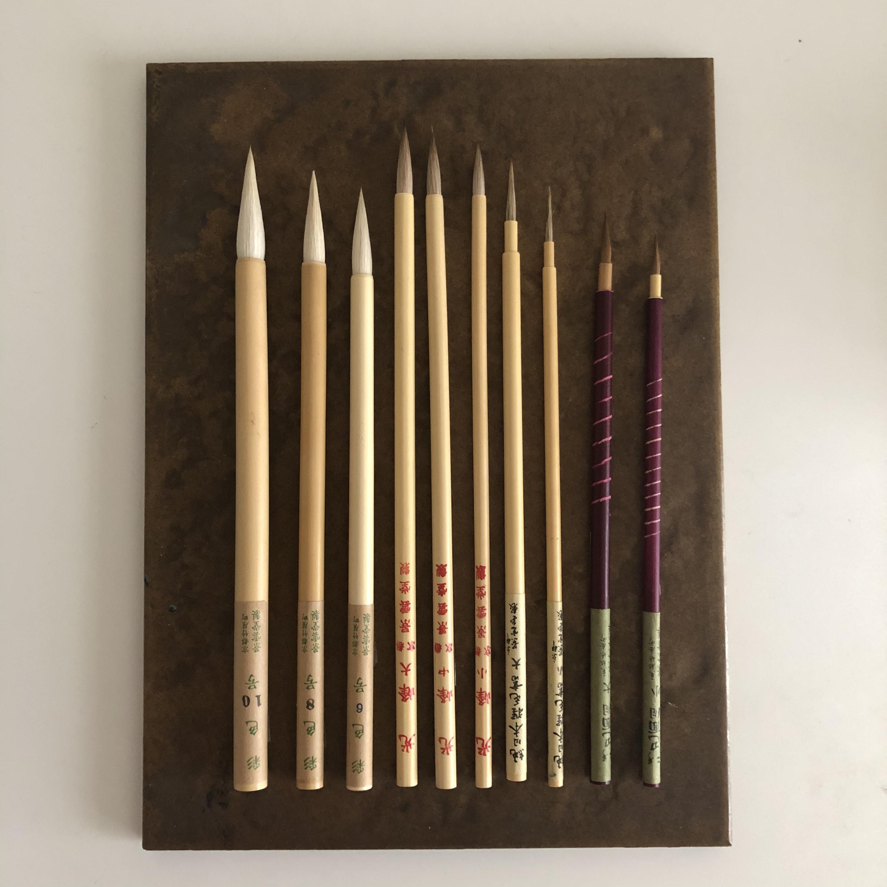 京都景雲堂ラスト1セット 日本の水彩筆 豪華10本セット2021年版その3