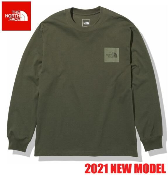 ノースフェイス ロンT 長袖 Tシャツ メンズ THE NORTH FACE ロングスリーブスクエアロゴティー NT82136 ニュートープ
