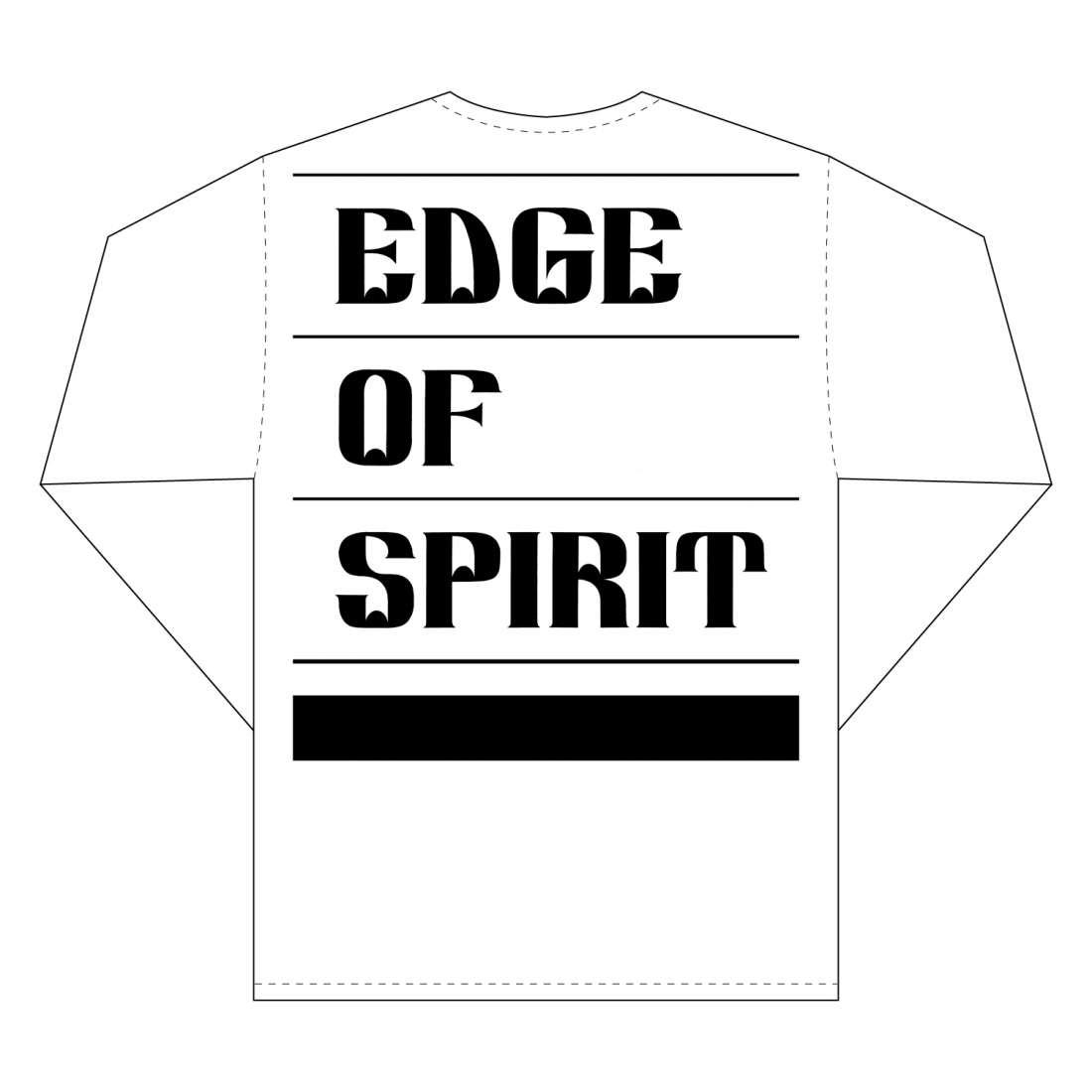 "EDGE OF SPIRIT ""QP"" L/S Tee [WHITE]"