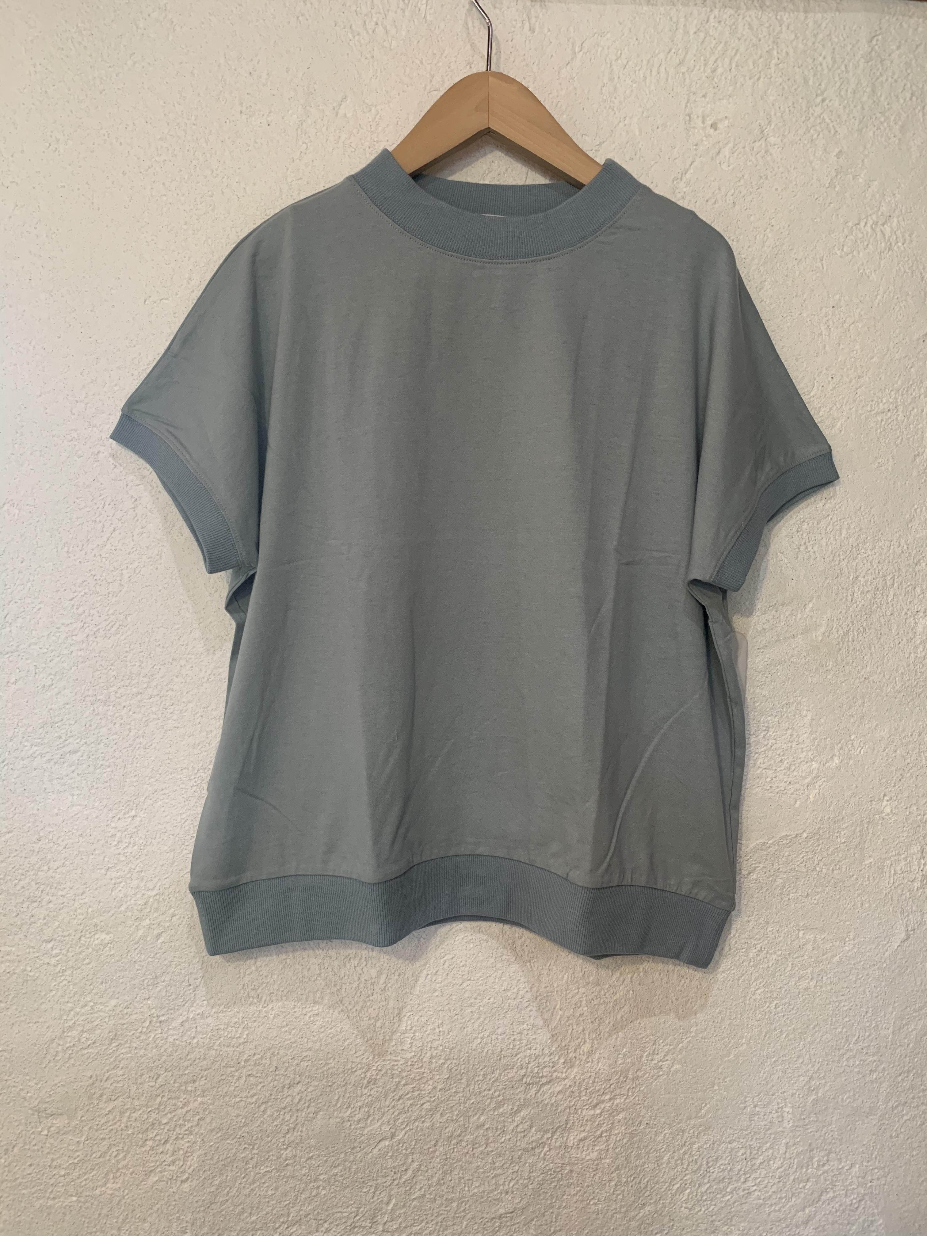 nachukara/リブドッキング半袖Tシャツ ミント