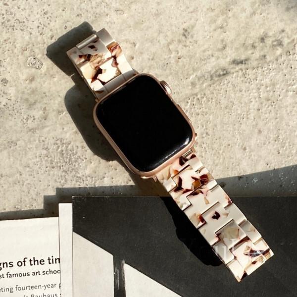 Apple Watch マーブル柄 バンド ベルト aw106