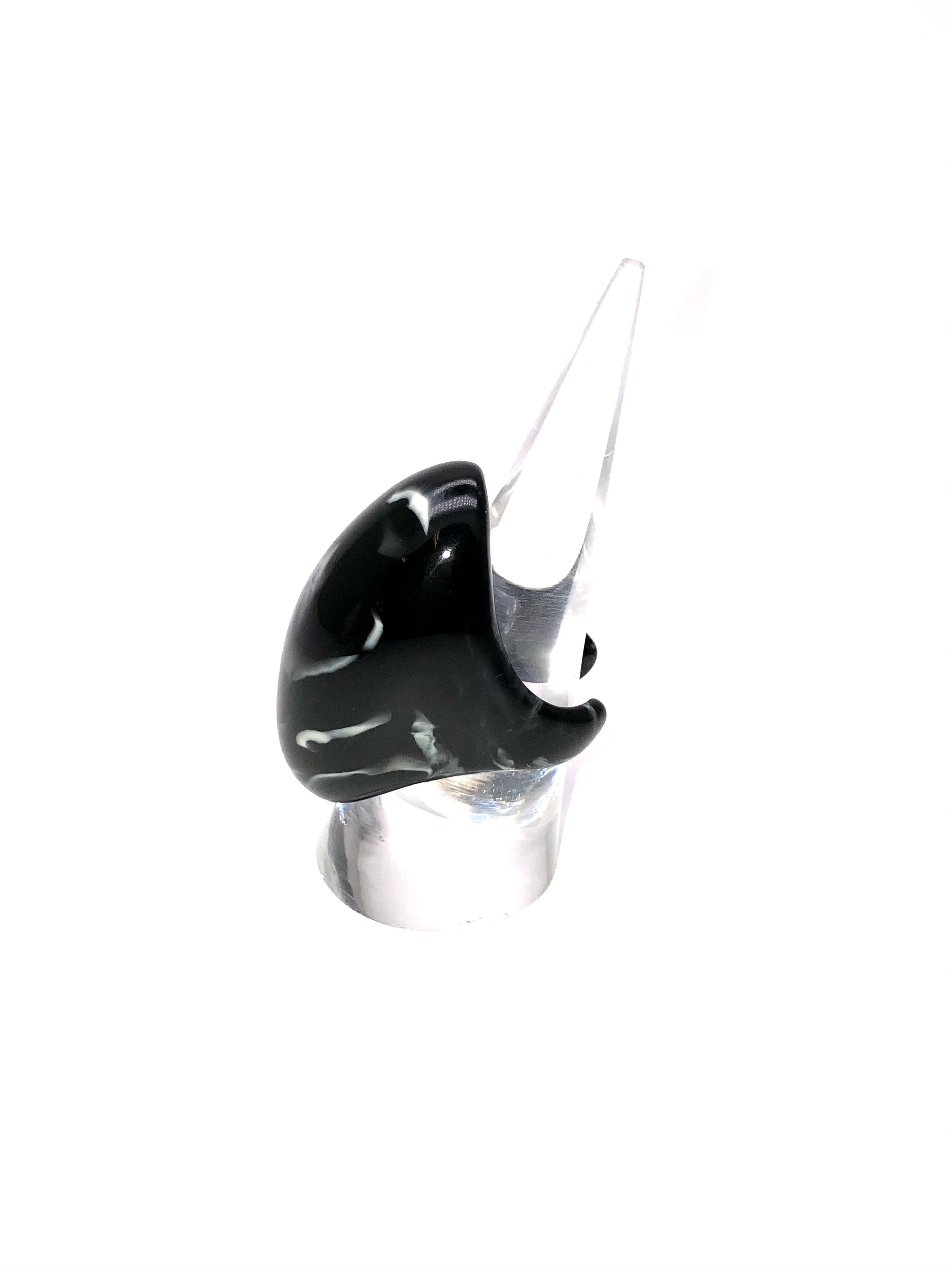 sAn Oval Ring (リング) ブラック 15号