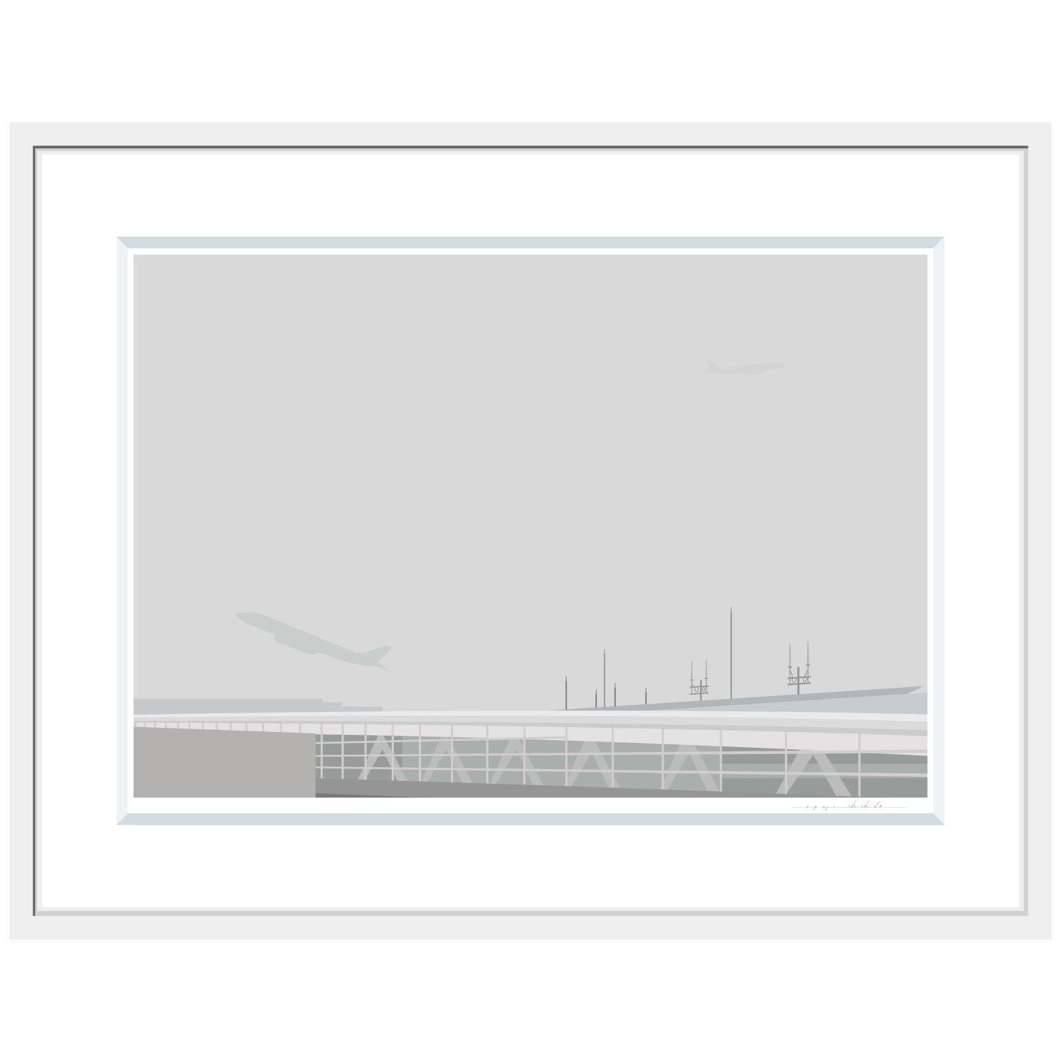 No.La-039「灰色の温かい風景」ジクレープリント額装 L size