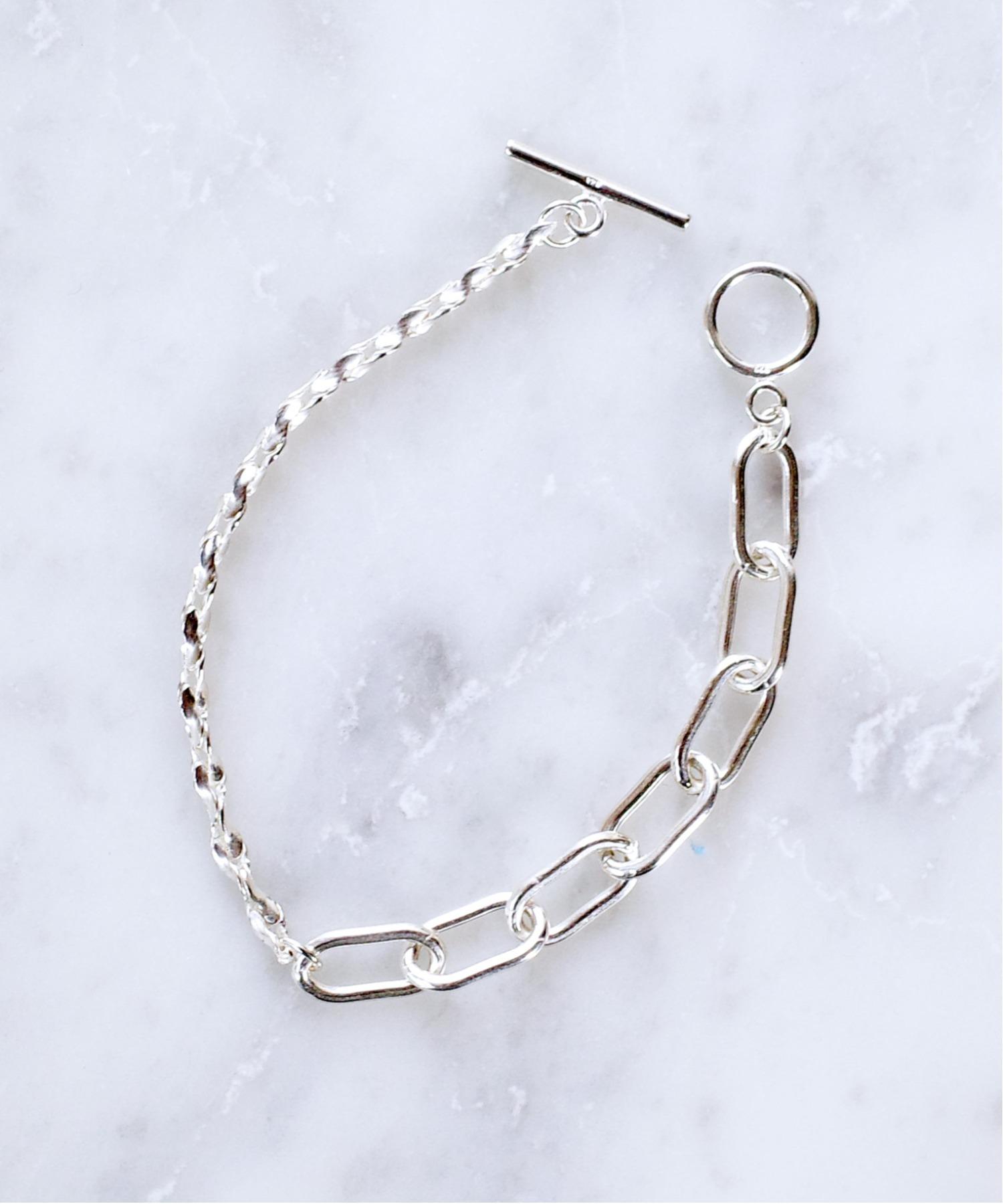 【ISOLATION / アイソレーション】SV925 Twist Mix Chain Bracelet
