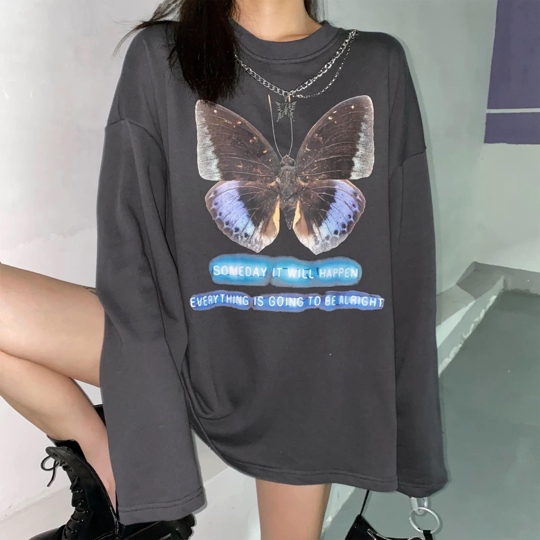 butterfly gray sweat