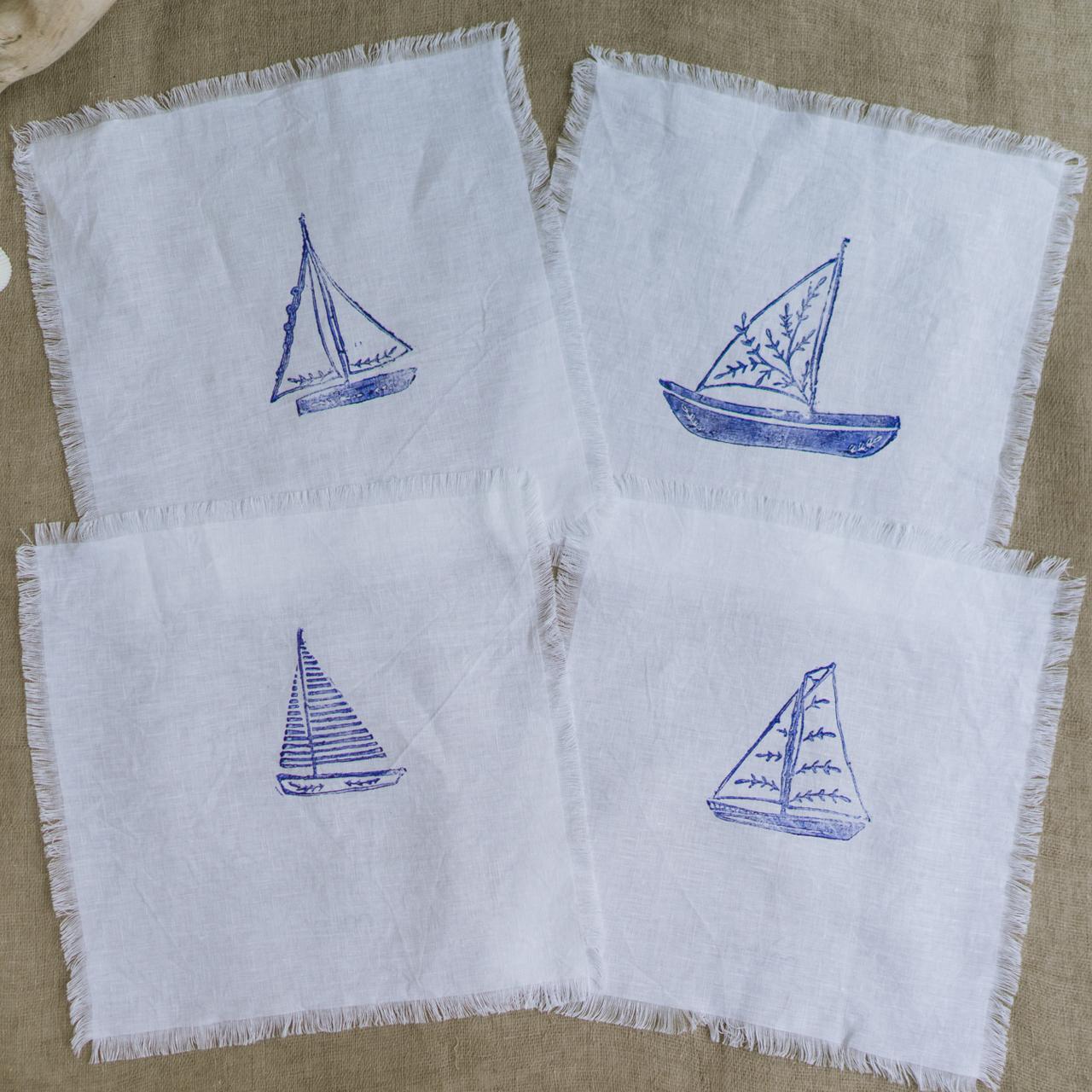Table napkin sailboat テーブルナプキン ヨット 4枚セット
