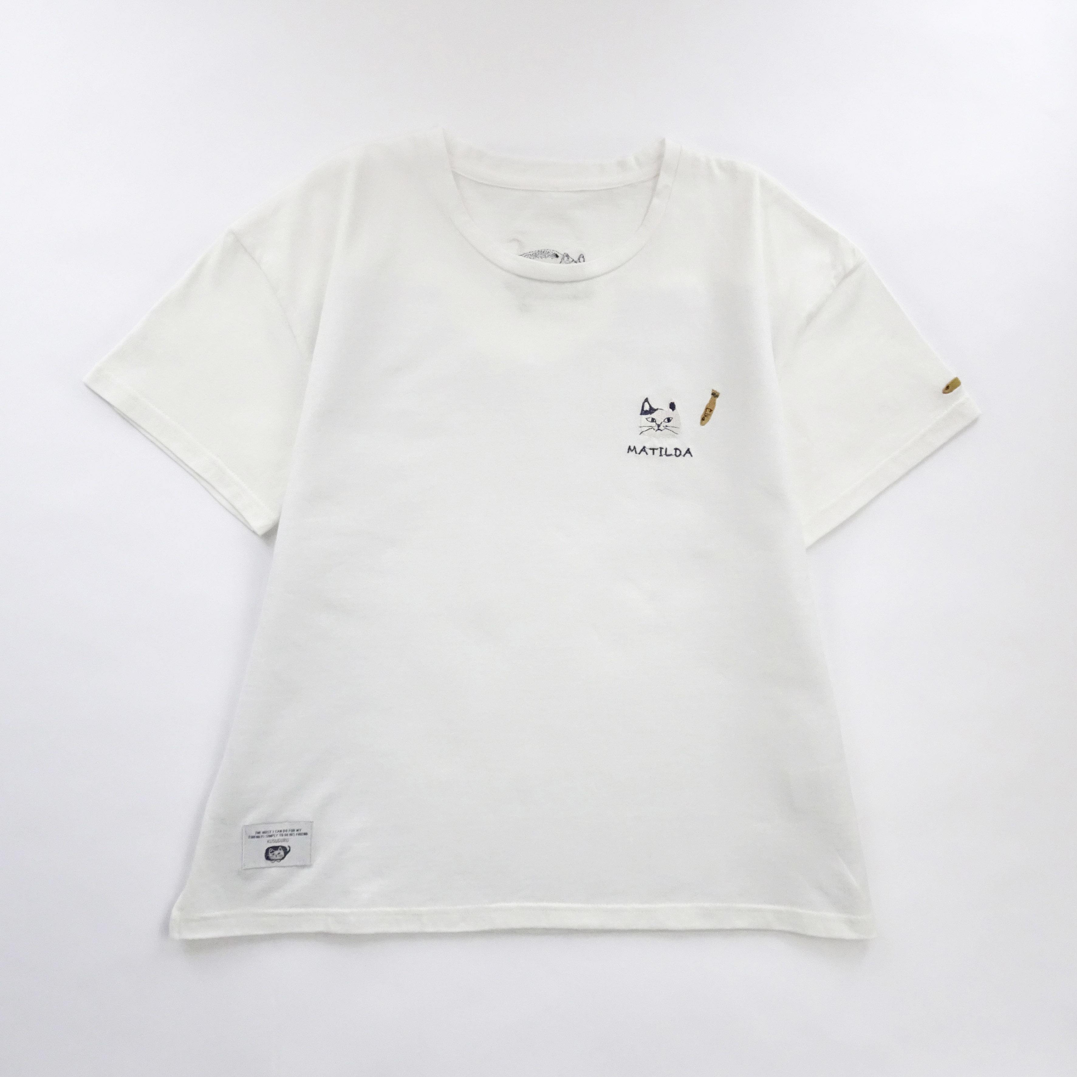Tシャツ 「マチルダさんTシャツ シロ」