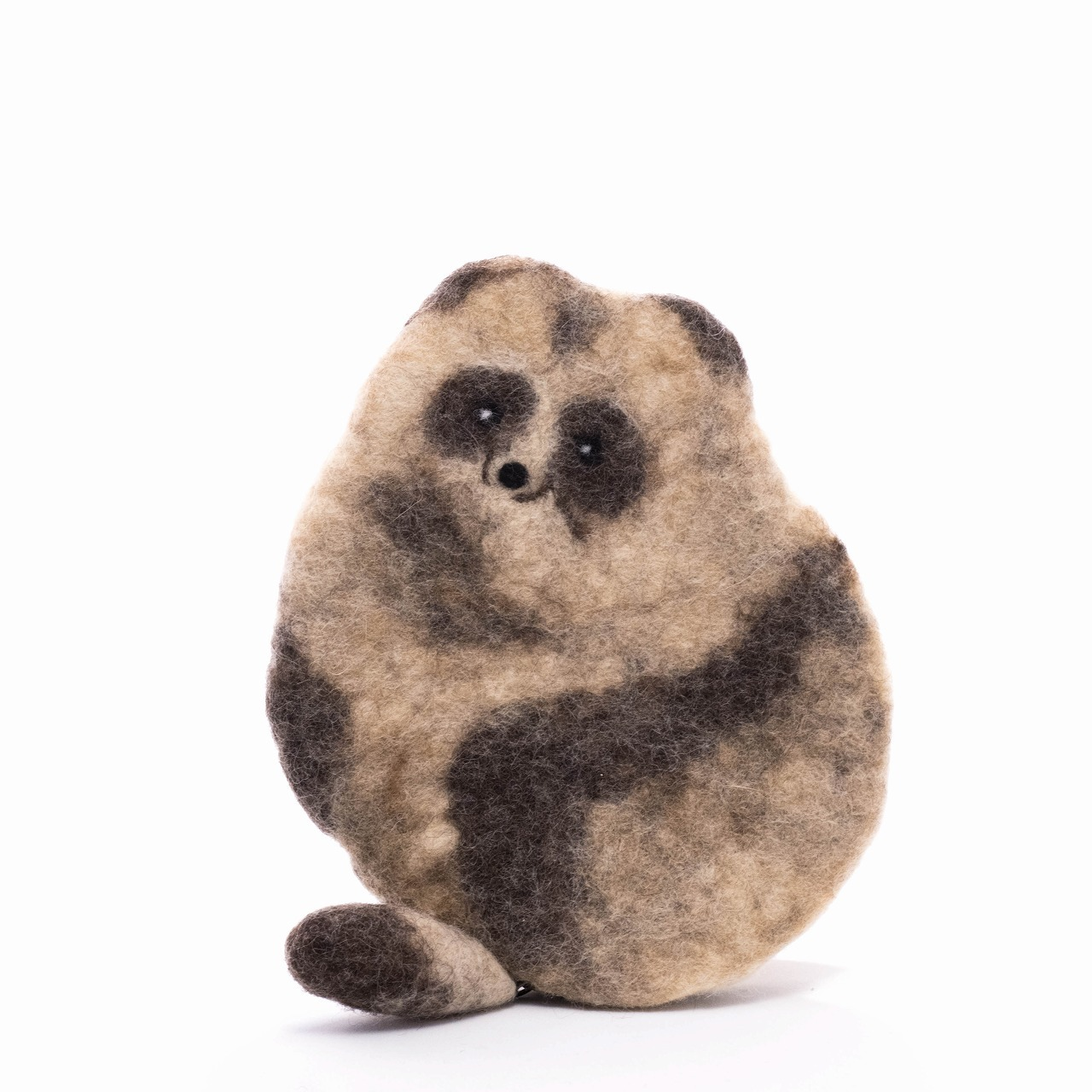 ふしぎのくにのものづくり工房 エゾタヌキポーチ 【羊毛】20210705-01