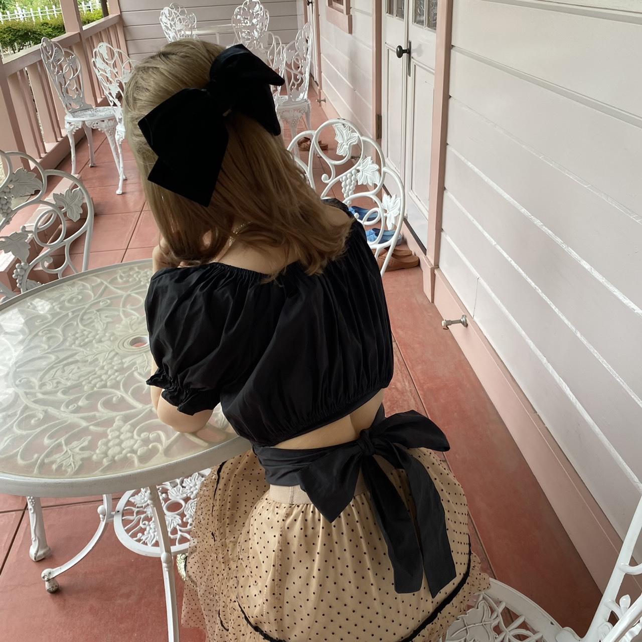 【Renonqle】back ribbon blouse