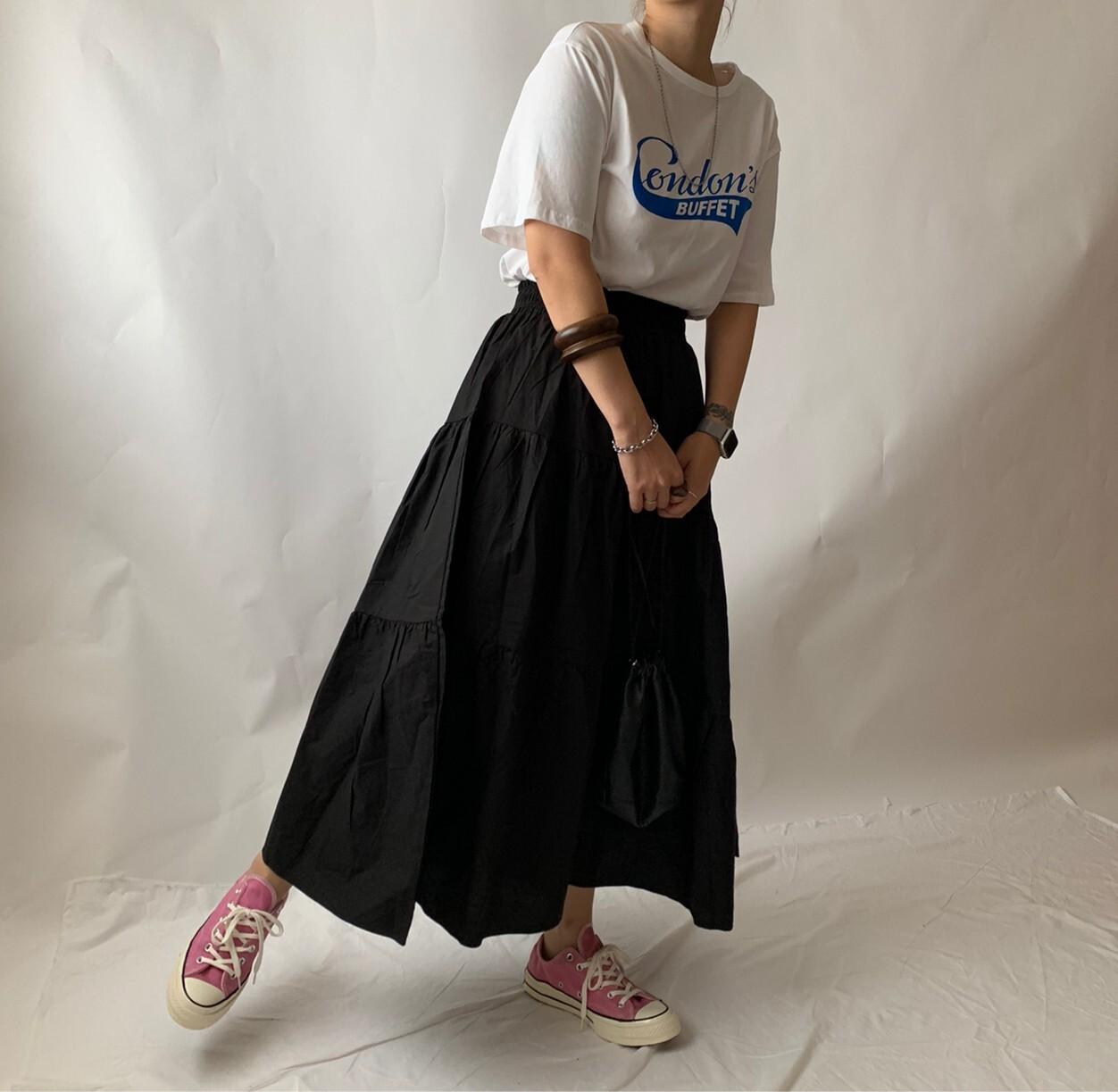【asyu】basic tiered skirt