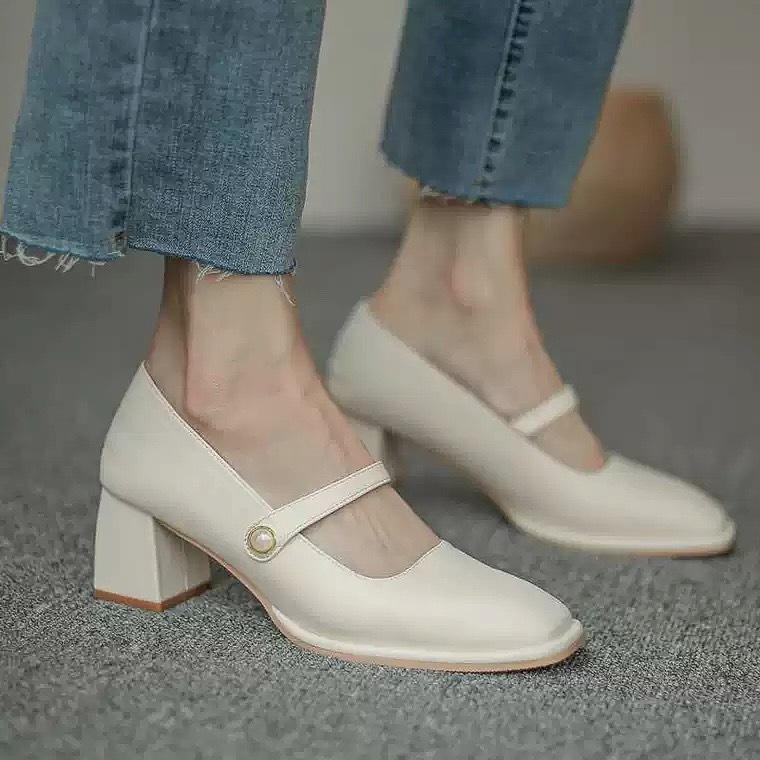 rétro heel pumps 3color