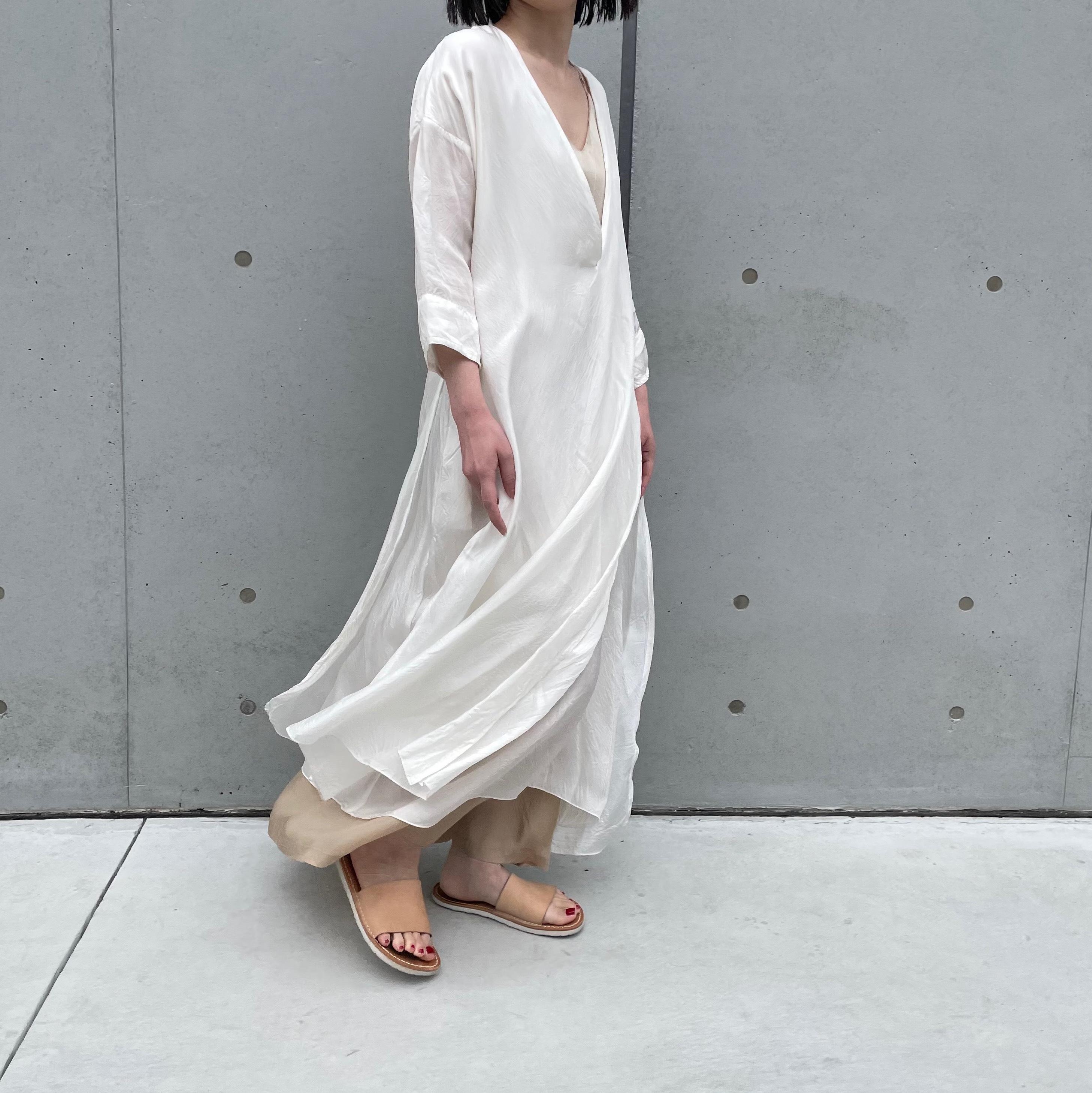 【hippiness × Sakurako.】cupro folkdress(white magnolia)/ 【ヒッピネス × サクラコ.】キュプラ フォークドレス( 白木蓮)