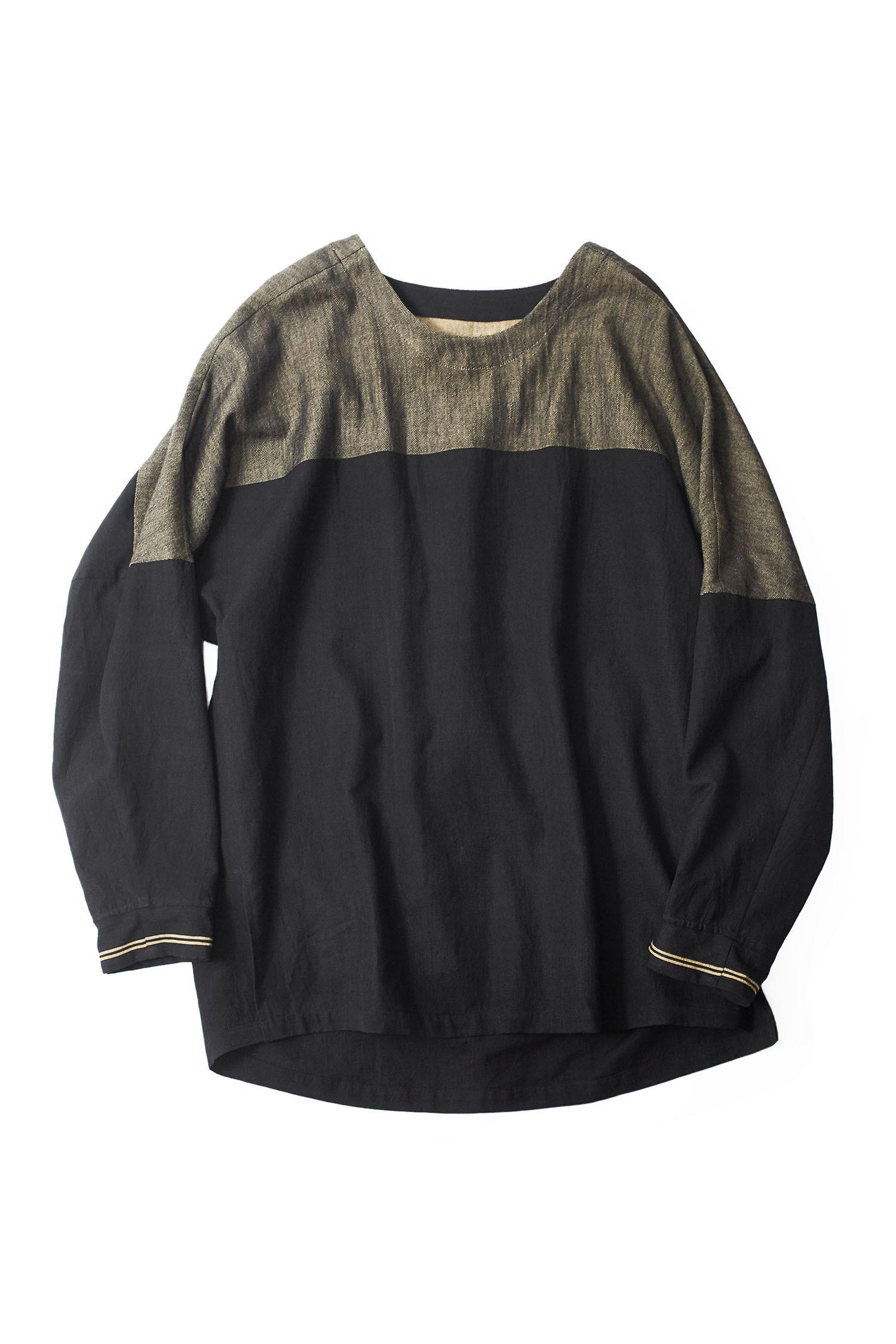 YANTOR  Boder jacquard pullover yellow