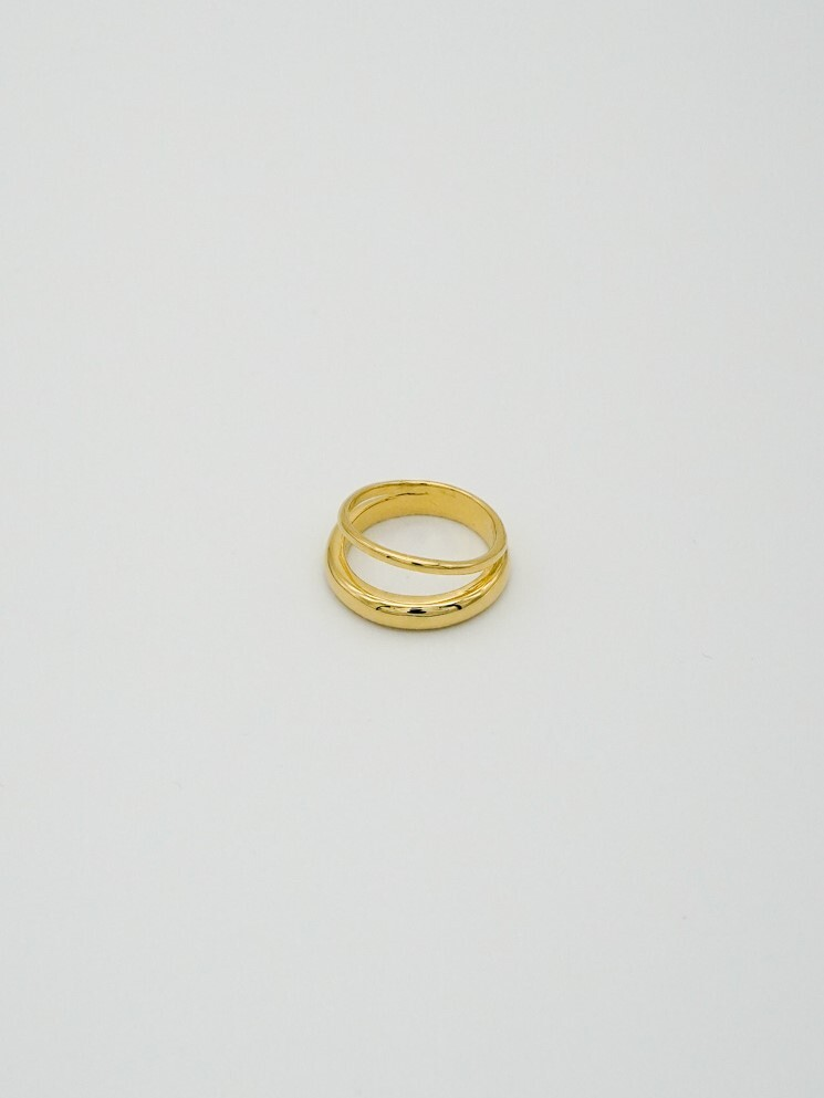 double ring gold(再入荷)