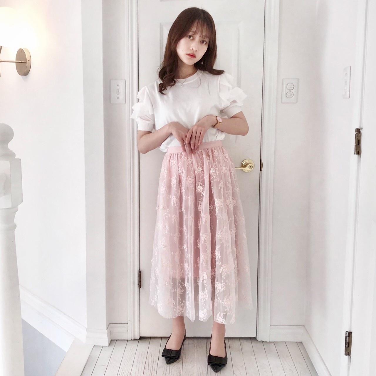 【Fluffy】ローズパールスカート