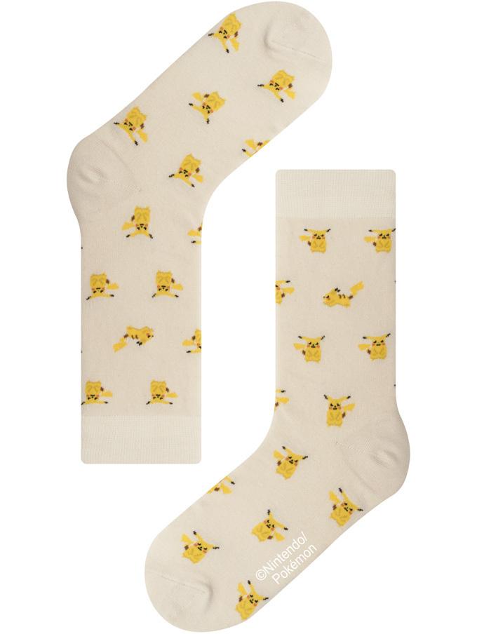 【Pocket Monsters socksappeal】PIKACHU -IVORY【ポケットモンスターソックスアピール】ピカチュウ-アイボリー