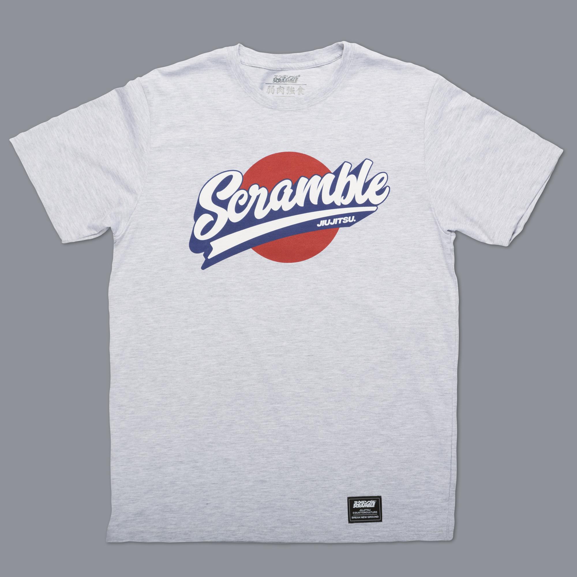 Scramble Sport Logo Tee - Grey 格闘技、柔術Tシャツ
