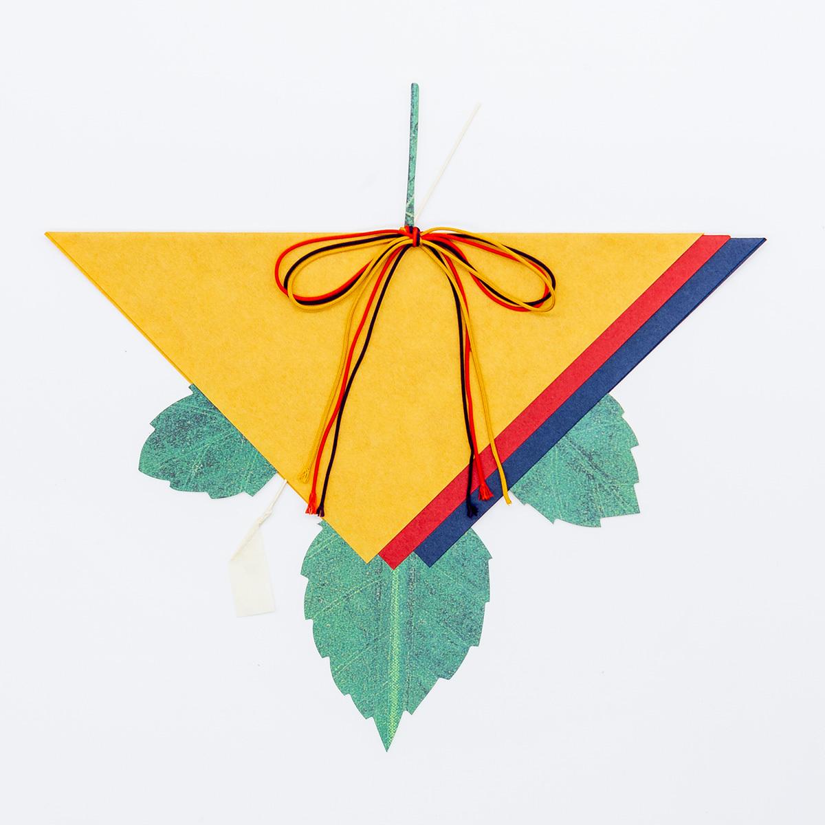 七夕かざり かじの葉 三角
