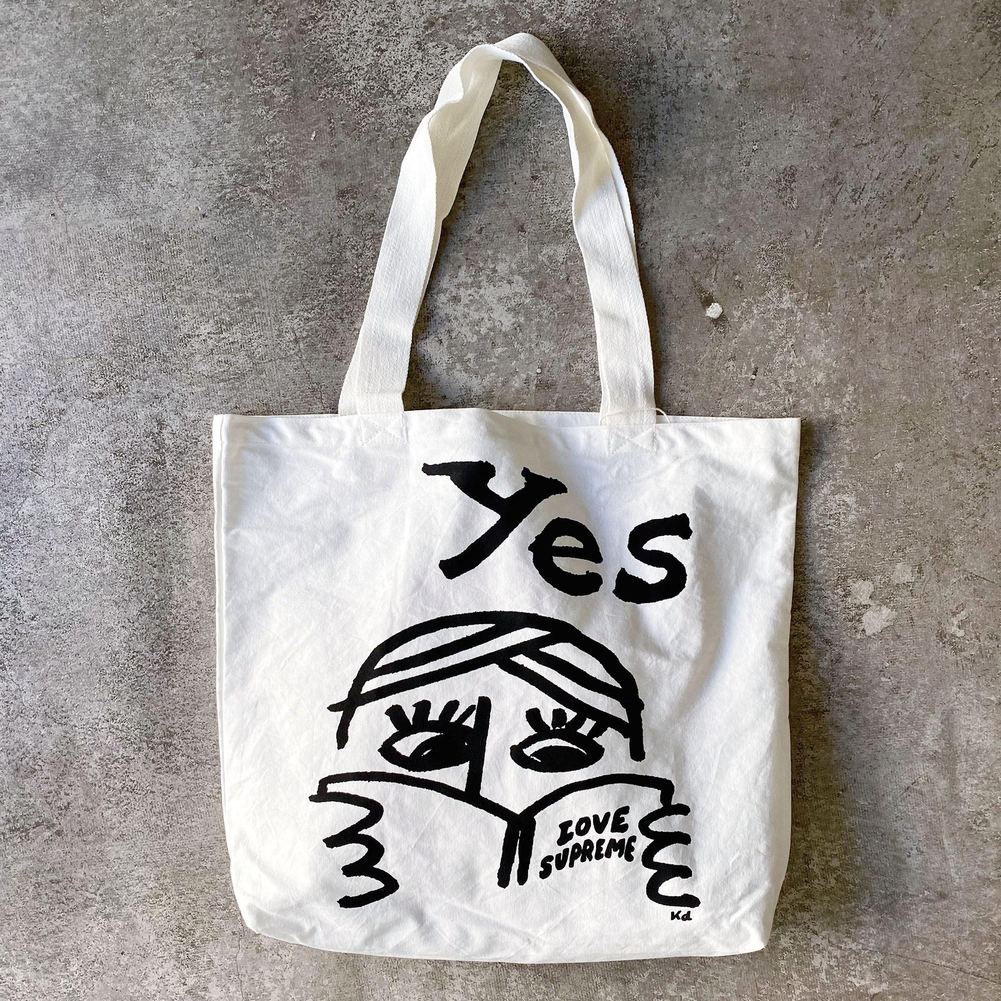 katsuo design organic cotton tote_love supreme