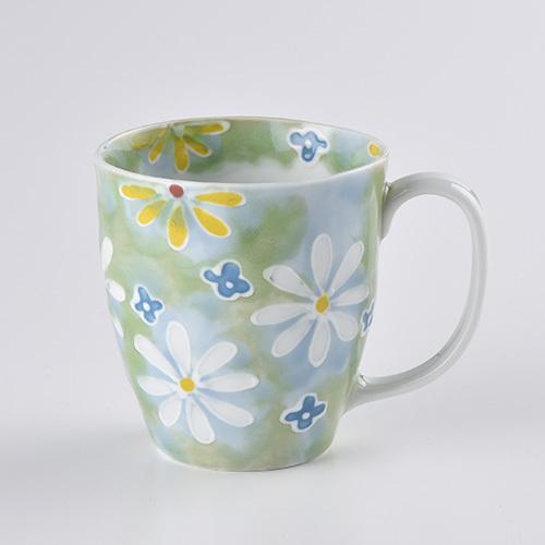 フラワーガーデン マグカップ(グリーン)