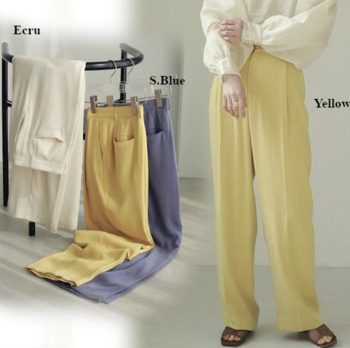 TODAYFUL /トゥデイフル Georgette Rough Trousers 21春夏.予約【12110726】