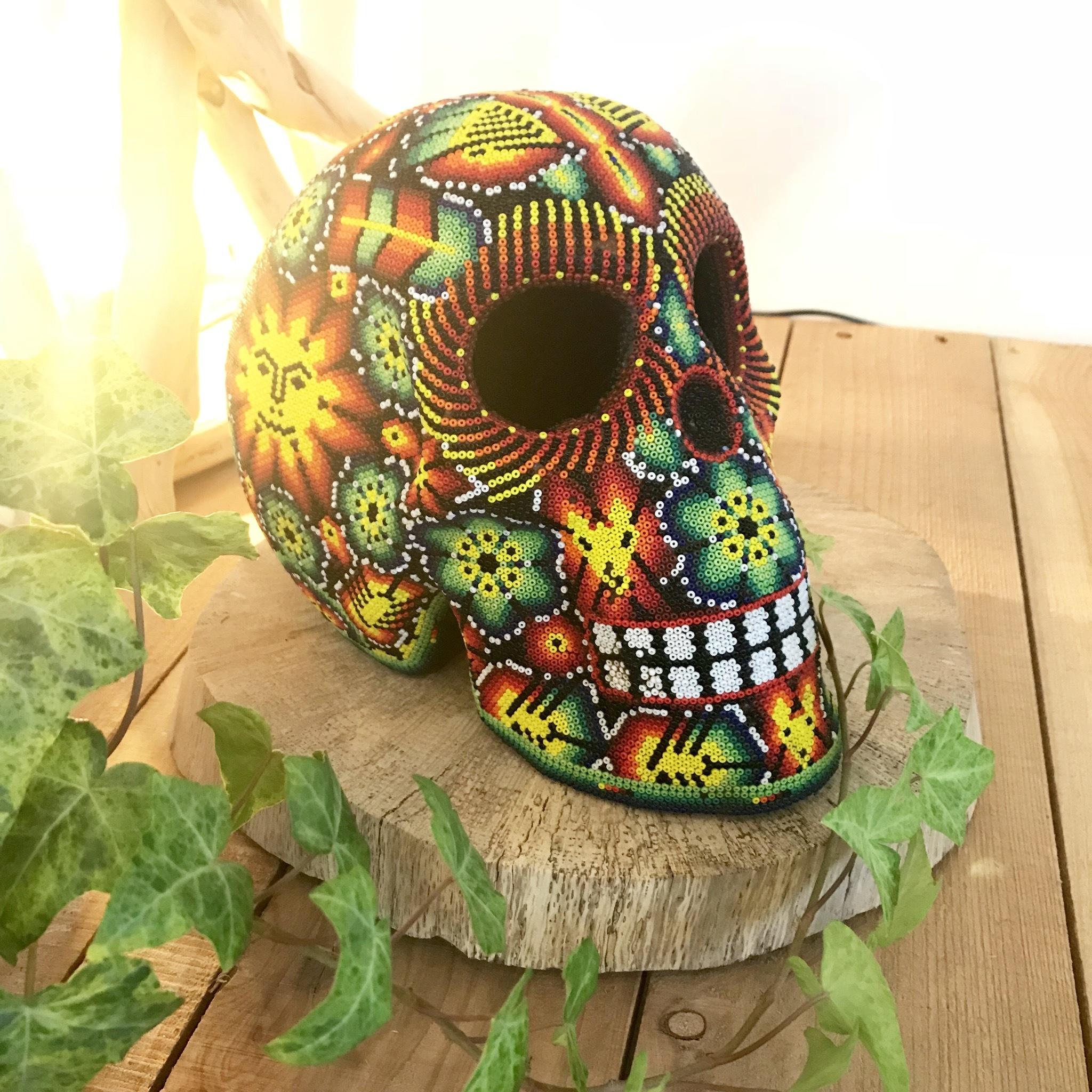 【Made in MEXICO】メキシコビーズ スカル