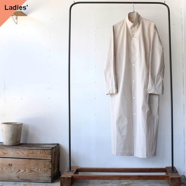 THE HINOKI ザヒノキ コットンボイルスタンドアップカラーシャツドレス オートミール TH20S-16