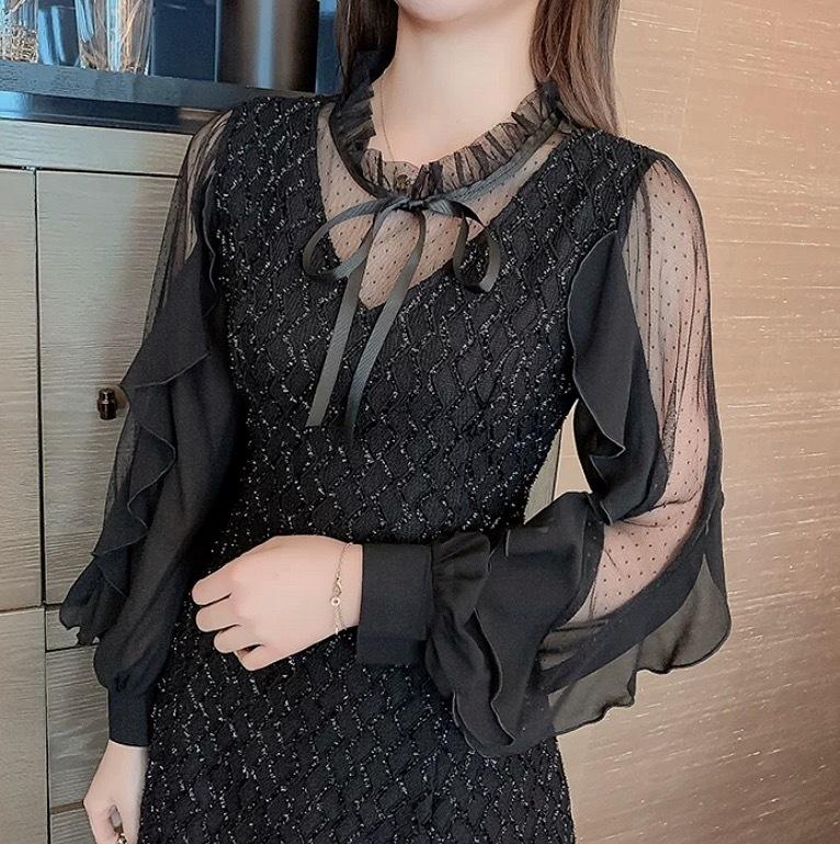 tulle design ribbon dress