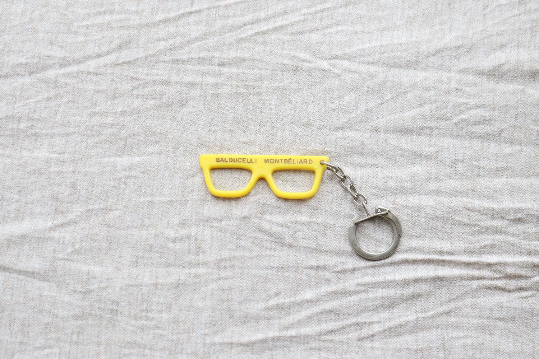 【フランス】メガネのキーホルダー/ BALDUCELLI MONTBELIARD