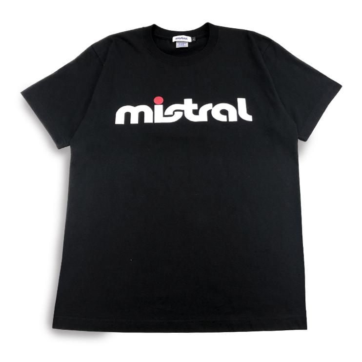 ミストラル ユニセックス [コットン半袖Tシャツ - ミストラル - ] BLACK