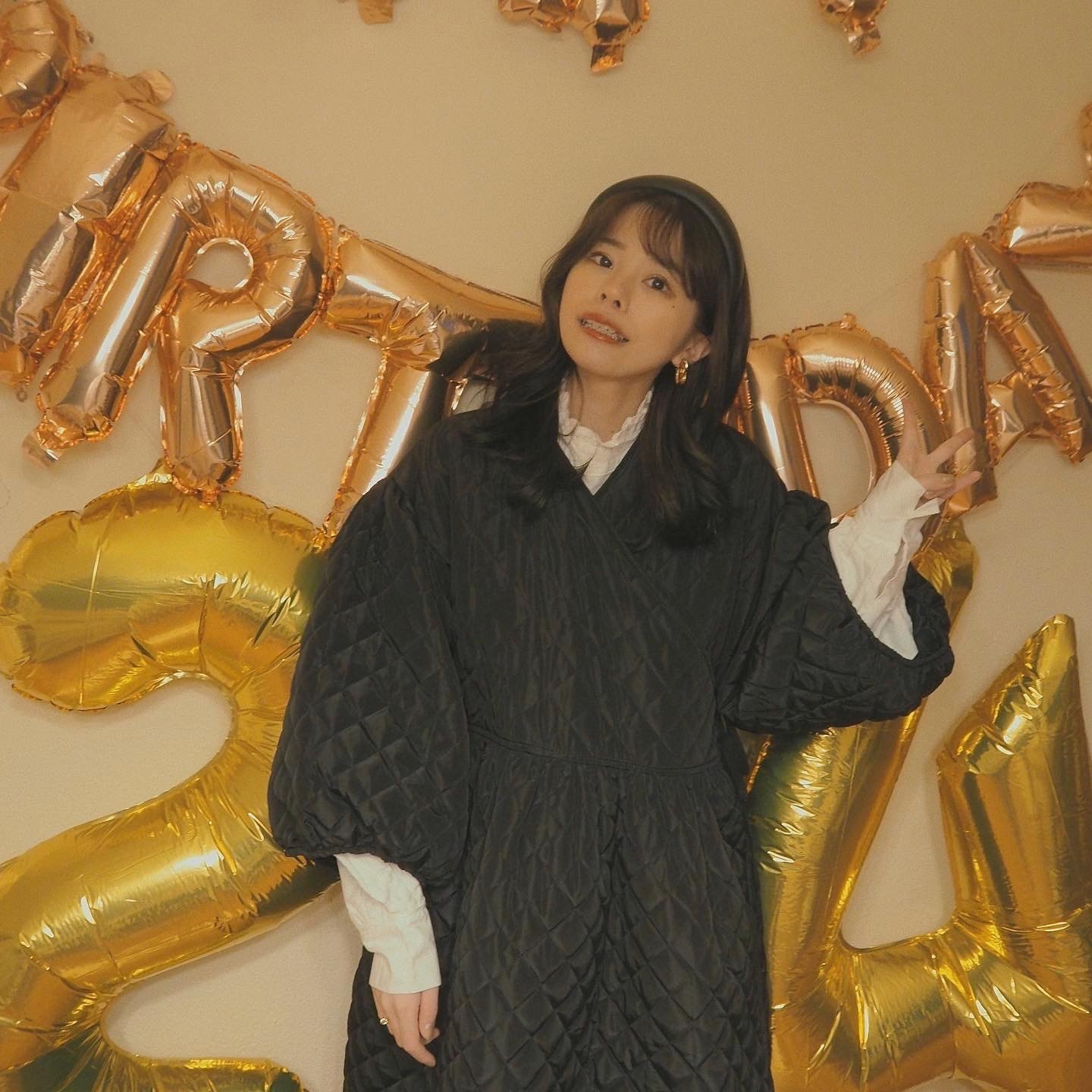 DAYNYC long sleeve quilting onepiece