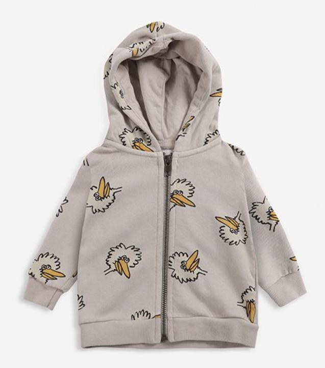 【Bobo Choses】Birdie All Over zipped hoodie