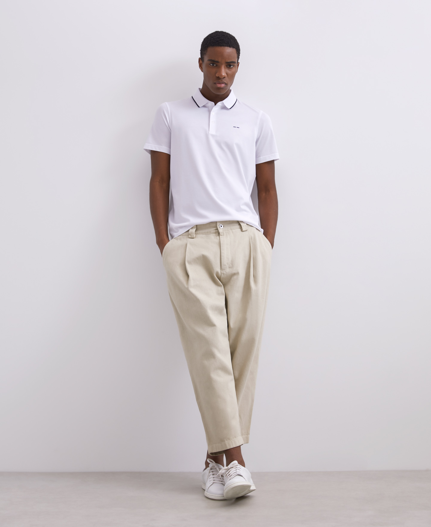 WHITE SHIRT COLLAR POLO [174021310111]