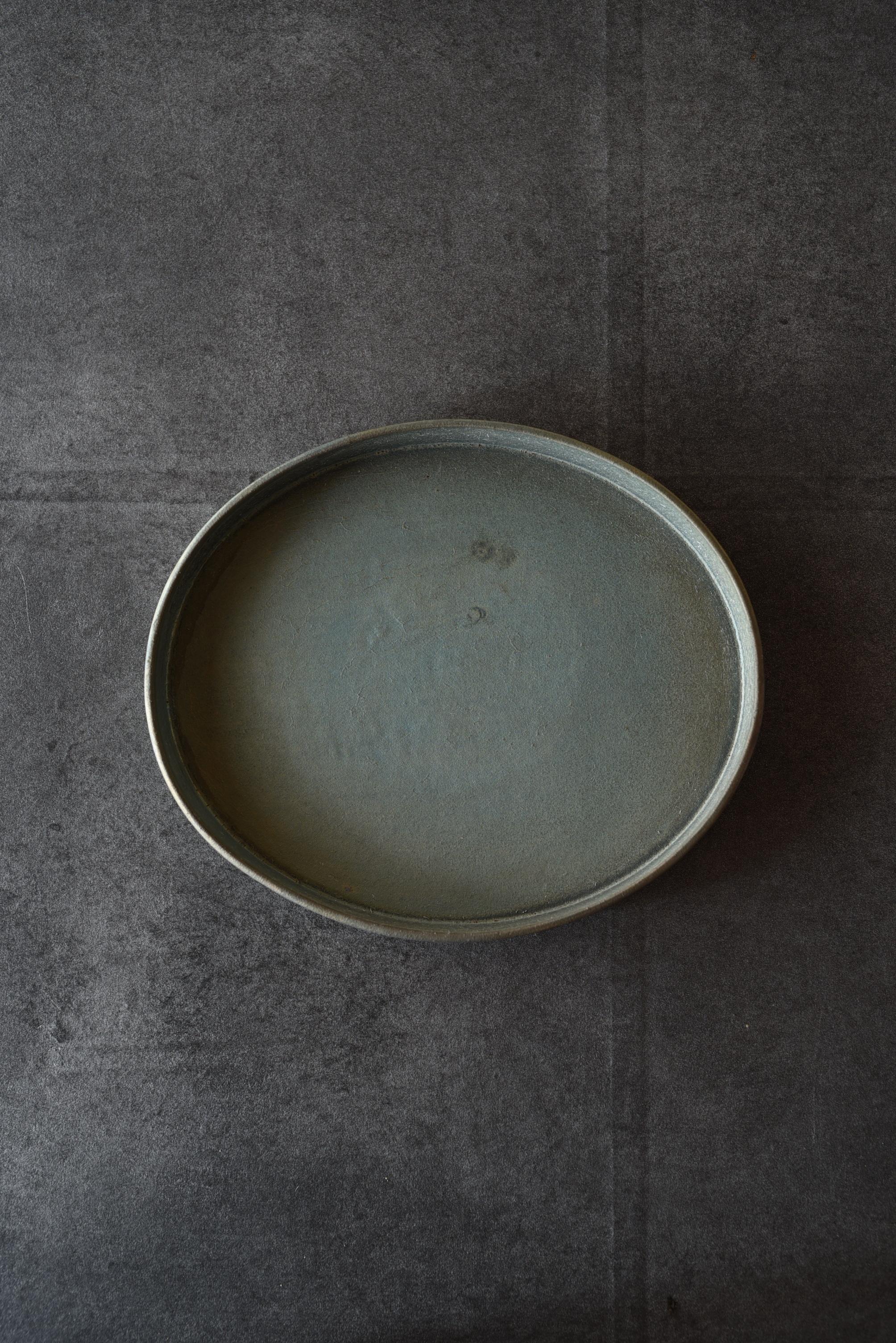 瀬川辰馬 硫化銀彩オーバルプレートB-s7