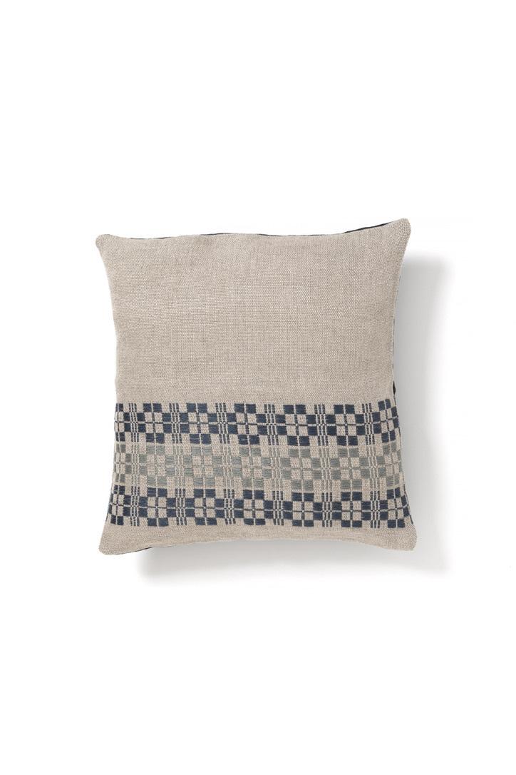 Aya Textile / ムンカベルテ 手織りのクッションカバー  ブルー・グレー