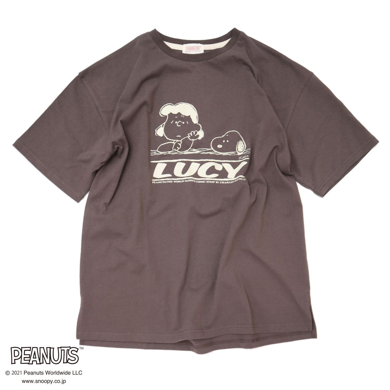 <PEANUTS>OVERプリント Tシャツ NO1515009
