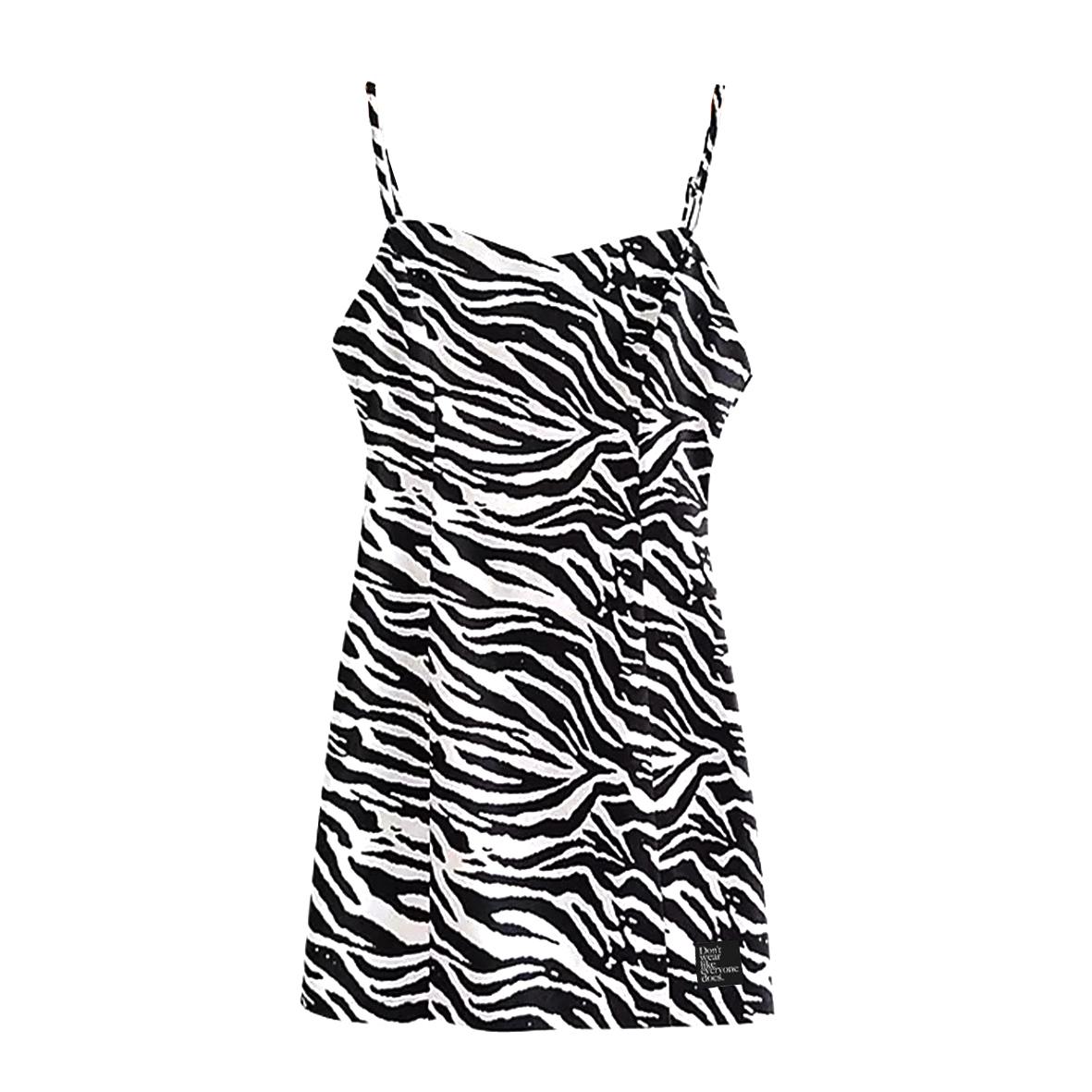 【Cat & Parfum】Zebra Mini Dress