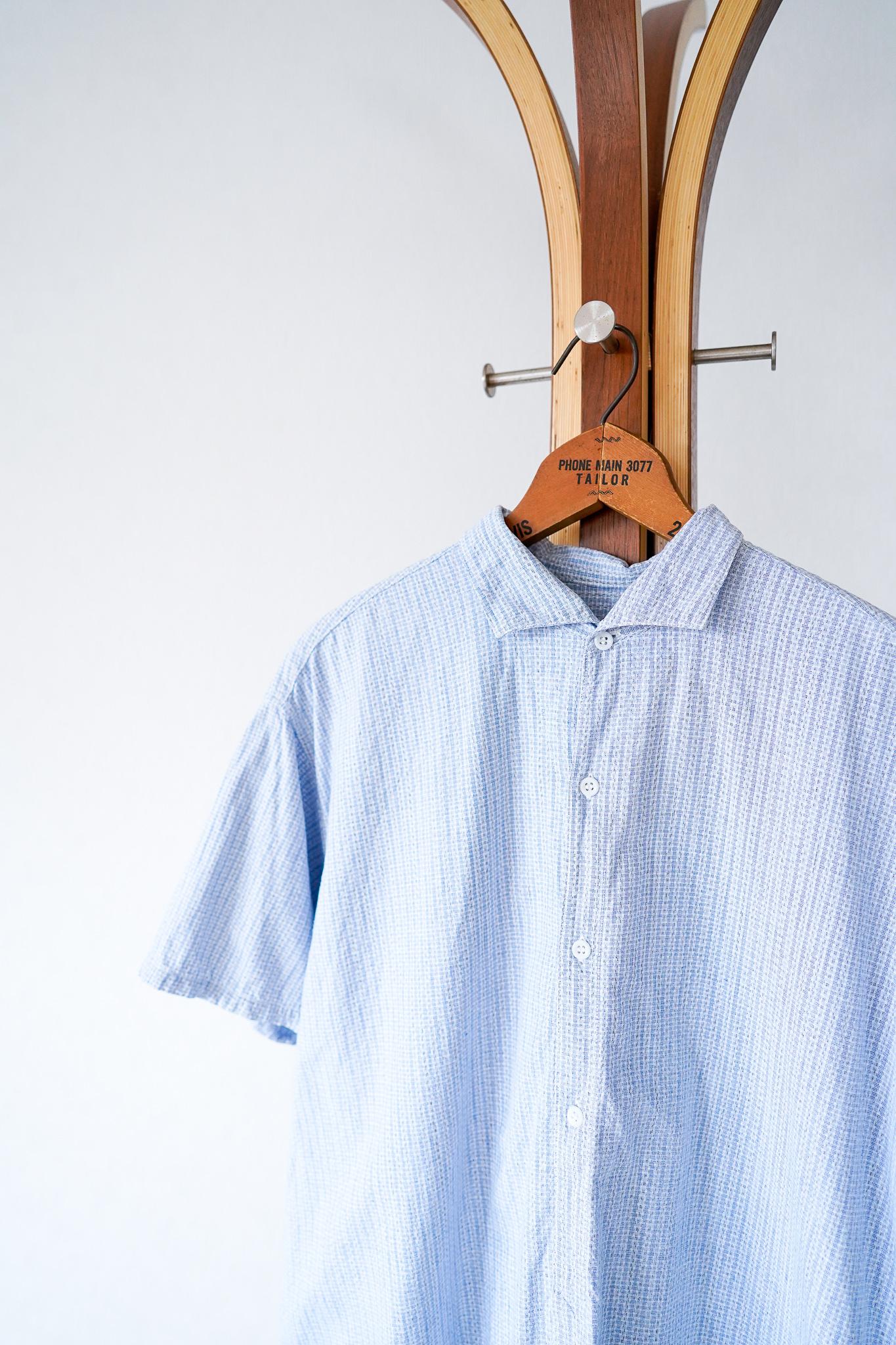 "【1950s】"" French Made"" Euro Vintage Grandpa Shirts / v645"