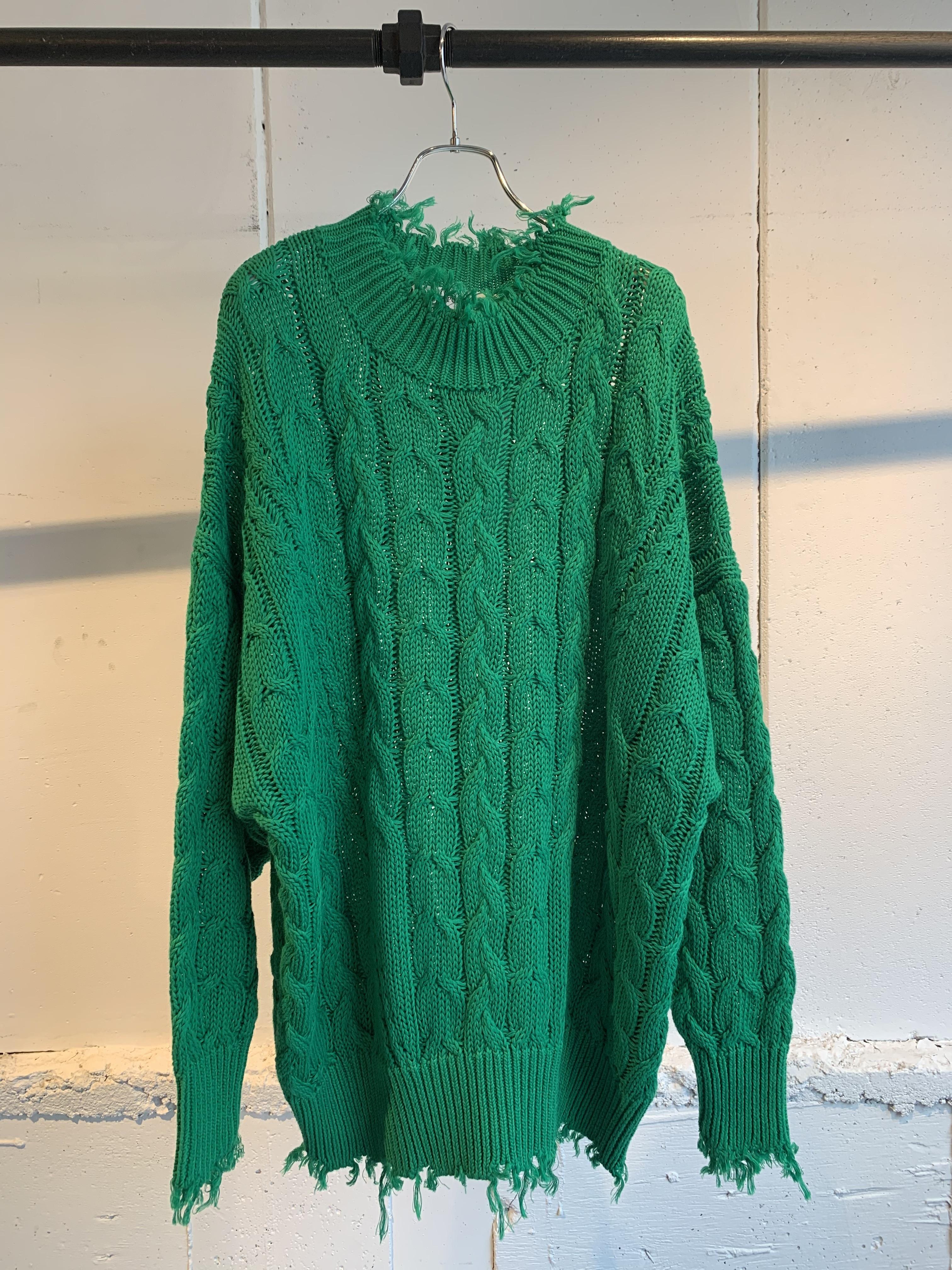 Provoke Big cable damege knit