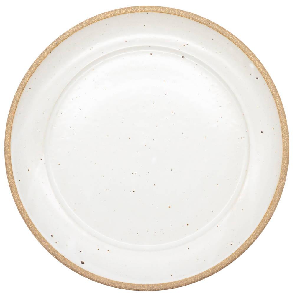 萬古焼 藍窯 ディナープレート 皿 直径26cm 「エスタ Esta」 赤土ホワイト AGM-200110