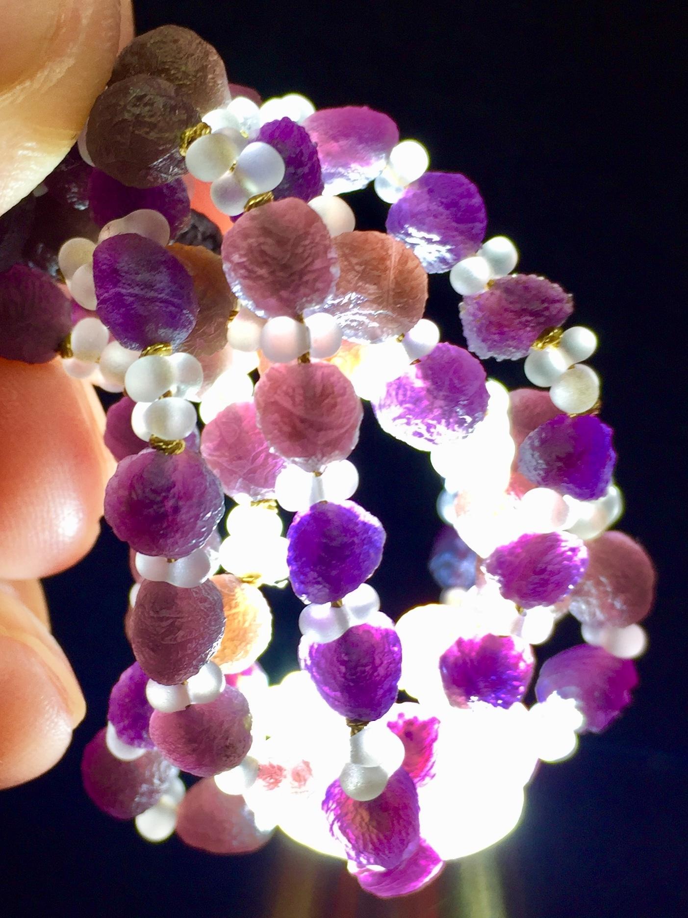 9) 紫ゴビアゲート「卑弥呼」ミニビーズ・ネックレス